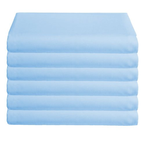 Babydoll Bedding 6 Piece Daycare Sheets Mini Crib, Blue