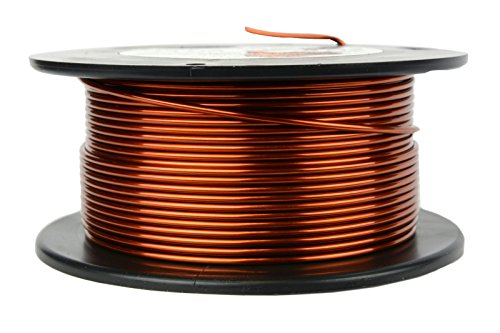 TEMCo 14 AWG Copper Magnet Wire - 8 oz 40 ft 200°C Magnetic Coil Winding