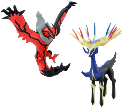 Takaratomy pokemon PVC Figure Xerneas &Yveltal Set
