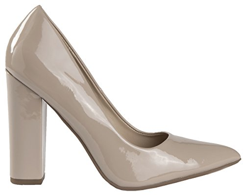 Wrapped Pauline Lust Women's Toe Pumps Have Dark High Chunky Pointy Pointed Heel Dress Beige Patent xwEEq0nrT