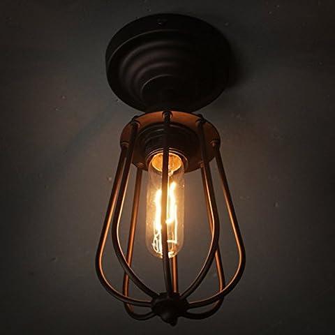 Fuloon Vintage Retro Iron Ceiling Lamp Flush Mount Light Grapefruit Light( Light Bulb Not Included) (Ceiling Lamp)