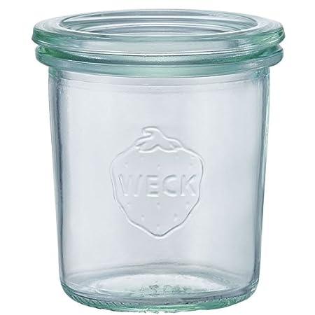 Weck Glas 12er-Set 760 Mini-Sturzform mit Glasdeckel 160ml 5760926