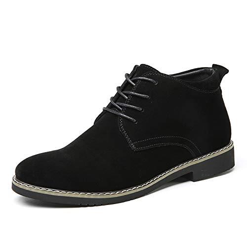 Lianaiec Herrenstiefel Scrub High Help Plus Baumwolle Warme Schuhe Männer 45 Yards Martin Stiefel Kurze Stiefel Wilde Lederstiefel