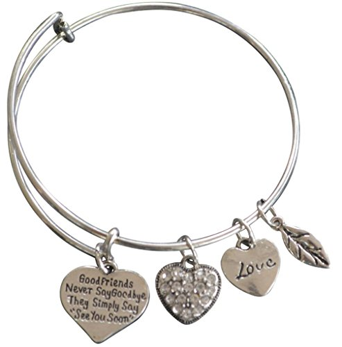 Infinity Collection Best Friends Bracelets- Good Friends Never Say Goodbye Bangle Bracelet- Friend Jewelry for Friends