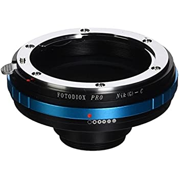 """Fotodiox Pro Lens Adapter Nikon F Mount G-Type D/SLR Lens to C-Mount (1"""" Screw Mount) Cine & CCTV Camera Body with Built-In Aperture Control Dial"""