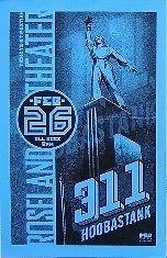 311 Hoobastank Roseland Theater Rare Original Portland Oregon Concert Poster from ConcertPosterArt