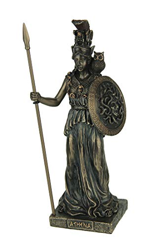 - Veronese Design Resin Statues Athena Greek Goddess of Wisdom & War Bronze Finish Statue 3 X 7.75 X 2.5 Inches Bronze