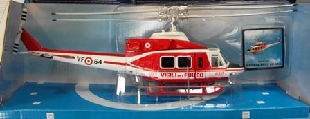 Agusta Bell 412 Vigili Del Fuoco Helicopter 1:48 Model 25753 by New (Bell 412)