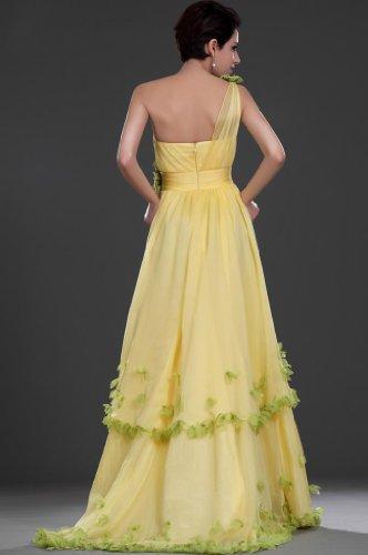 Gelb A Kleidungen Abendkleider Damen Schleppe 1 Linie Schulter Chiffon Dearta Pinsel qTvxwHEBH5