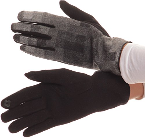 [Sakkas 16168 - Kade Pixel Ombre Multi Colored Patterned Warm Touch Screen Winter Gloves - Black -] (Pixel Gloves)