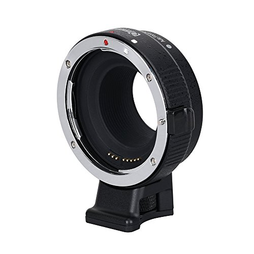 (Commlite CM-EF-EOS M Electronic Auto-Focus Lens Mount Adapter-Canon EF/EF-S D/SLR Lens to Canon EOS M (EF-M Mount) Mirrorless Camera Body Adapter for Canon EOS M1 M2 M3 M5 M6 M10)
