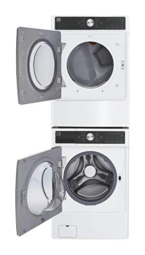 Kenmore Smart 7.4 cu. ft. Front Load Gas Washer and Dryer Bundle with Accela Steam -White – Compatible with Alexa.