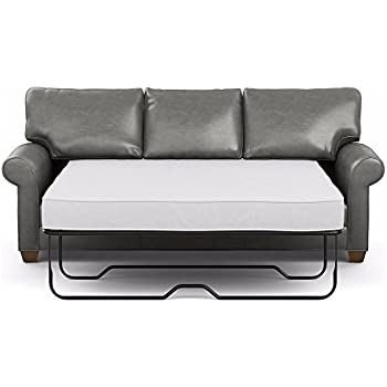 Amazon.com: ESF Ray Grey Reversible Fabric Leather Sectional ...