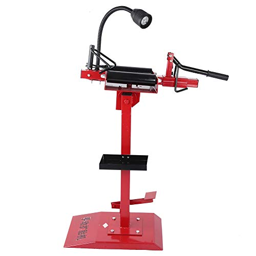 Qiilu Tire Spreader Changer for Car Truck Patching, Professional Tire Repair Stand Changer Tools, Heavy Duty Machine Auto Equipment Kit with Adjustable LED Light US Plug 110-240V
