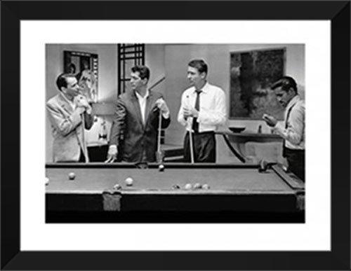 The Rat Pack (Pool) 28x36 Framed Art Print. (Rat Artwork Pack)