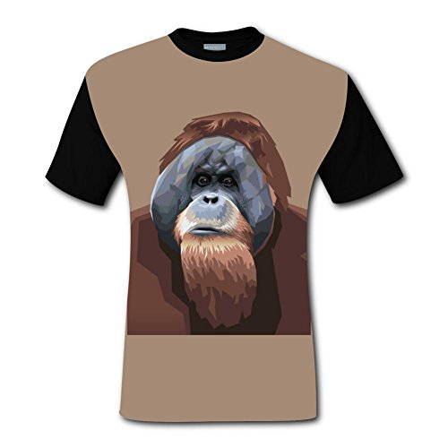 LZQ Tshirt Man 100% Cotton New Funny Tshirt 3D Make Your Own With The Monkeys For Men M