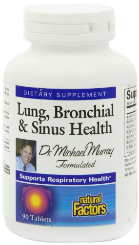Natural Factors Lung, Bronchial and Sinus Health Tablets, 90-Count