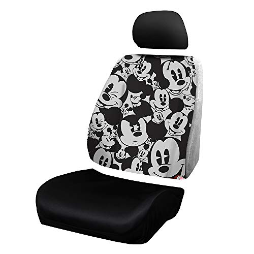 Plasticolor Disney Mickey Mouse Expressions Universal Car Truck or SUV Sideless New 3-Piece Seat Cover w/Head Rest