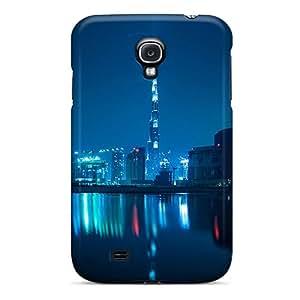 High Grade Ajephke Flexible Tpu Case For Galaxy S4 - Burj Khalifa At Night