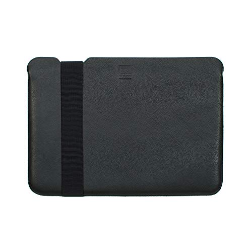 "Acme Made Skinny Sleeve Ultra-Thin Genuine Leather Padded Case for Apple MacBook 12"" and Other 11""-12"" Laptops (XXS) (Black) AM10811 ()"