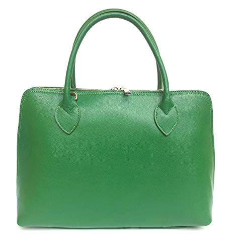à CIRC A4 en en Sac Format cuir véritable Fabriqué Vert Italie Saffiano main SUPERFLYBAGS Model HqawpSnUx