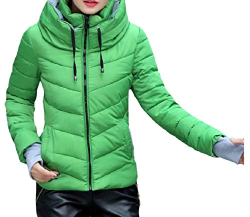 Coat Women Stand Pocketed Short Down Collar XINHEO Pattern3 Skinny up Thick Zip Opwvdqv