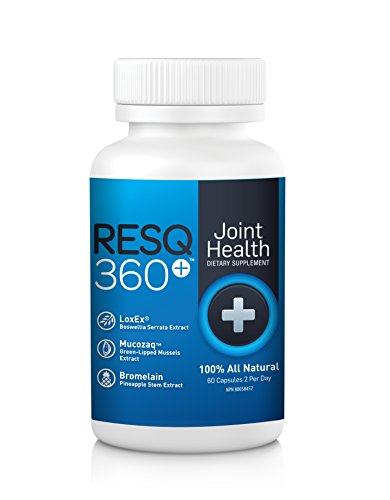 RESQ360 - Premium Joint Support Nutritional Supplement - Joint & Arthritis Pain Relief In As Little As 7 Days - Anti-Inflammatory Action - Ideal For Rheumatoid Arthritis, Knee, Hip Pain & More