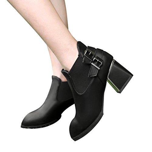 Kjære Tid Koreansk Stil Enkel Støvler Svart