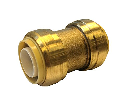Libra Supply Lead Free 1-1/4 x 1 inch Push-Fit Coupling, Push to Connect, (Click in for more size options), 1-1/4'' x 1'', 1-1/4 x 1-inch, Fits copper tubing, CTS, CPVC and (Click Fit Coupling)
