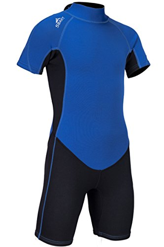 Boys Girls Shorty Neoprene Wetsuit 2MM One Piece Swimsuit for Kids UV Protection for Swim Surf Snorkel Scuba ()