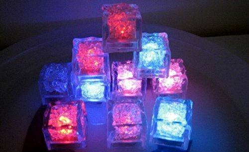 Lucy Multicolor [Ice Cubes Light]-6 Pack of Decorative LED Liquid Sensor Ice Cubes Shape Lights Submersible LED Glow Light Up for Bar Club Wedding Party Champagne Tower Decoration (6 (King Of The Hill Halloween Episodes)