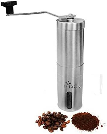 Manual Coffee Grinder, Premium Stainless Steel, Acrylic Glass, Ceramic Burr Grinder, Durable Coffee & Spice Mill, Adjustable Grinder, Portable, Freshly Ground Coffee Anywhere, For Coffee Enthusiasts