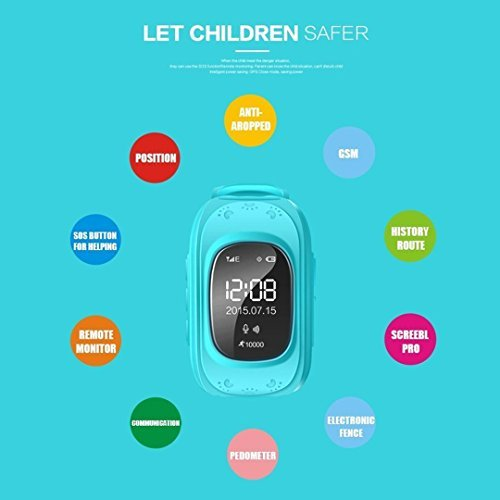 Amazon.com: Themoemoe Q50 Children Smart Watch for Kids Girls Boys Christmas Gifts with GPS Tracker SOS Call Location Anti-lost Remote Monitor Pedometer ...
