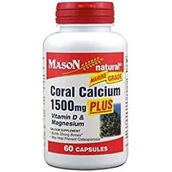 CORAL CALCIUM 1500 mg PLUS VITAMIN D 3 & MAGNESIUM osteoporosis 2 Bott