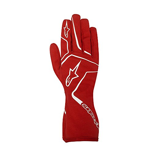 Alpinestars 3552717-30-L YTH TECH 1-K RACE GLOVES, RED, SIZE L (PR)