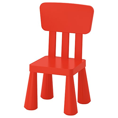 Ikea Mammut Kids Indoor / Outdoor Children's Chair, Red Color - 1 Pack by IKEA