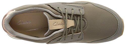 Clarks Ladies Floura Mix Sneaker Green (kaki Combi)