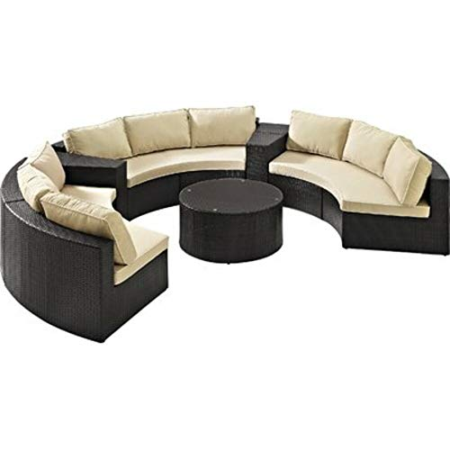 Highland Dunes 6 Piece Rattan Sectional Modular Design Set with Detachable Sand Cushions + Free Basic Design Concepts Expert Guide from Highland Dunes