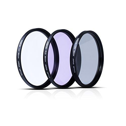 Price comparison product image Zeikos ZE-FLK86 86mm Multi-Coated 3 Piece Filter Kit (UV-CPL-FLD) For Sigma 150-500mm f / 5-6.3 APO DG OS HSM Lens & Sigma 180mm f / 2.8 APO Macro EX DG OS HSM Lens