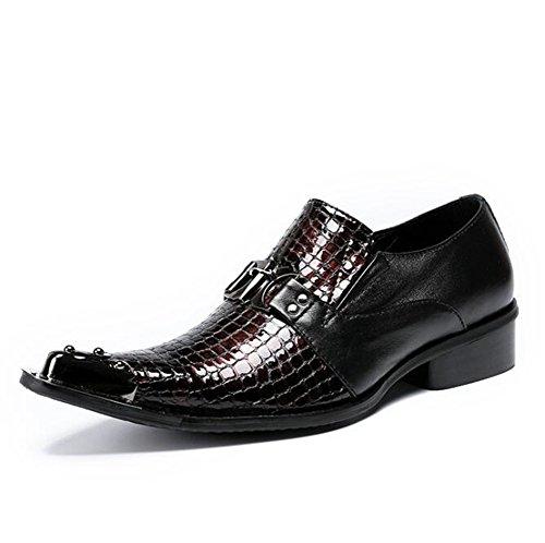 Mocasines Zapatos Eu42 Acento Tamaño Irlandés Formal Negocio De Espectáculo Genuina Club 45 Hombre Puntera Eu41 Nocturno Nanxie Metal Piel 38 A RqYqd