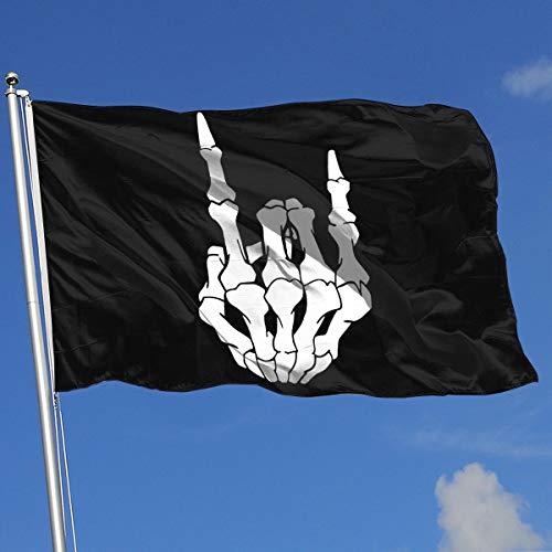 (TJHJOL Rock and Roll Skull Hand 3x5 Feet House Flag)