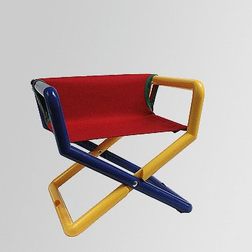 Personalized Junior Director Chair Primary Canvas ()