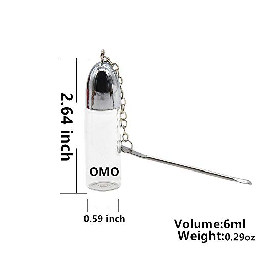 OMO Snuff Bullet Metal Snuff Spoon Small Funnel Aluminium Alloy Snuff  Bullet Kit Sealed Snuff Bottle with Spoon Rocket Snorter Dispenser Glass  Snuff