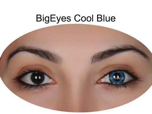 Farbige Kontaktlinsen 3-Monatslinsen & Color Contact lenses Blau / Blue 1 Paar (2 Stück) incl. 60ml Pflegemittel und Behälter!