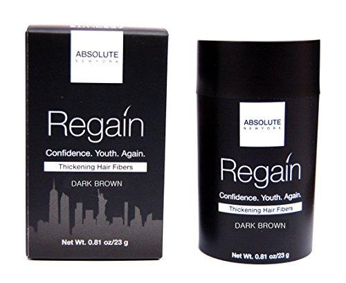 Regain Hair Fibers by Absolute 0.81oz / 23g (Dark Brown) by Absolute