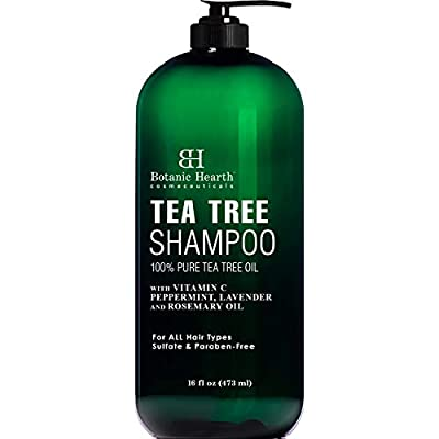 Botanic Hearth Tea Tree Shampoo and Conditioner Set - with 100% Pure Tea Tree Oil, for Itchy and Dry Scalp, Sulfate Free, Paraben Free - for Men and Women - 16 fl oz each