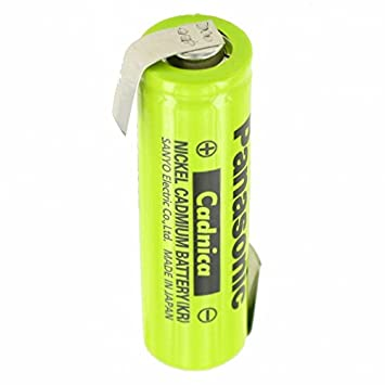 Pilas NiCd flat Top 1,2 V 600 mAh batería de soldadura AA Z-form: Amazon.es: Electrónica