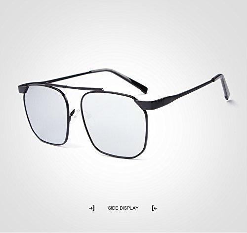 Retro Unisex Moda Hombres Mujeres Silver Polarizado Oculos Shishanyun la Hombre Cuadradas Gafas con Gafas Diseñador Gafas Mujer Marca de IvSqxB0F