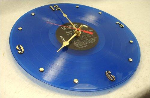"Elvis Presley Vintage Clock (ELVIS PRESLEY Recycled Vinyl Record Clock – Blue Color Vinyl ""Moody Blue"" (1977))"
