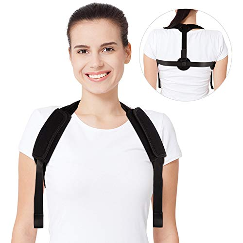 Back Posture Corrector for Women & Men✮ Best Fully Adjustable Upper Back Brace Trainer ✮Effective and Comfortable Posture Brace for Slouching & Hunching - Discreet Design – Clavicle Support